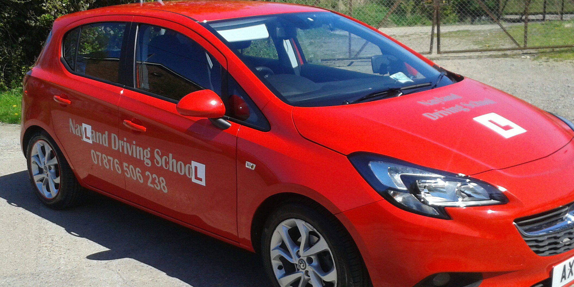 Nayland Driving School car used for driving lessons and driving instructor training